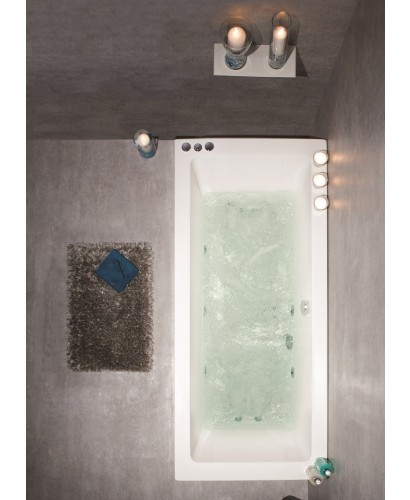 Duo 1600x700 Double Ended 8 Jet Whirlpool Bath - Extra Deep
