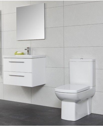 Soho Bathroom Set - with Vanity Unit , Basin , Toilet and Mirror