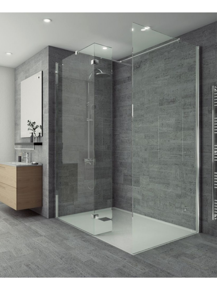 Wetroom panels salon range 1400 mm wetroom wall panel for Small baths 1100