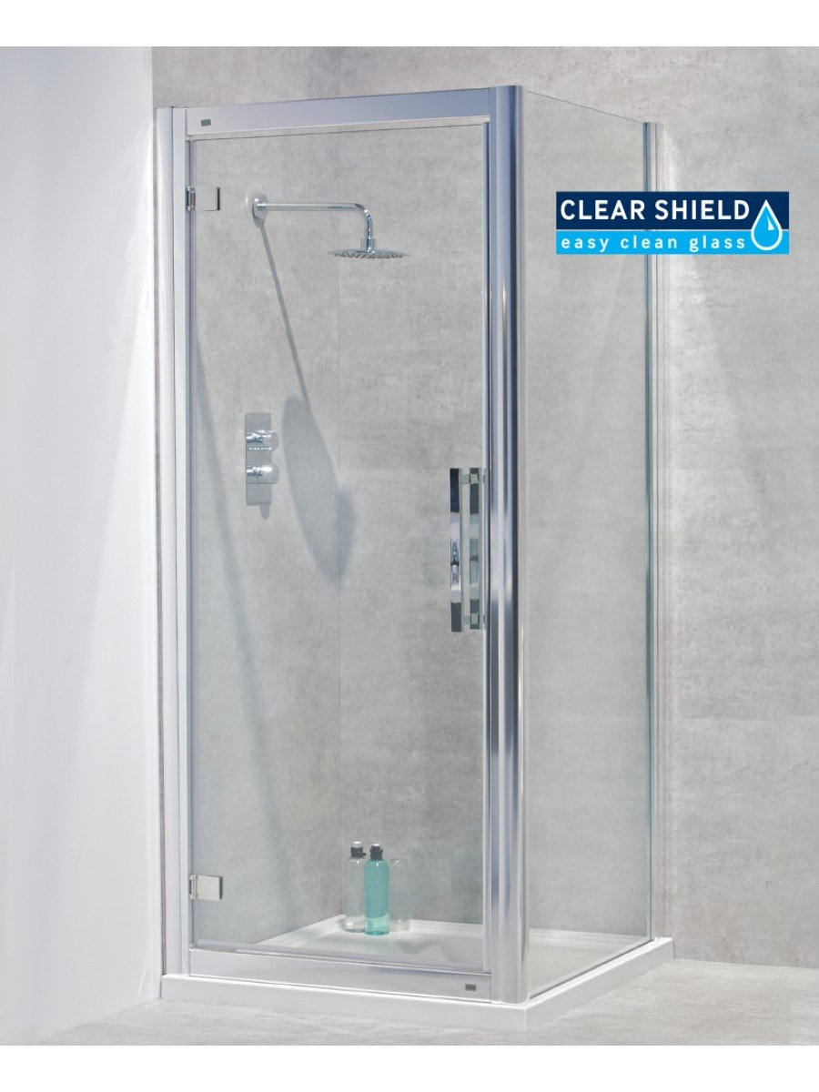 Avante 8mm 900 x 700 Hinged Shower Door