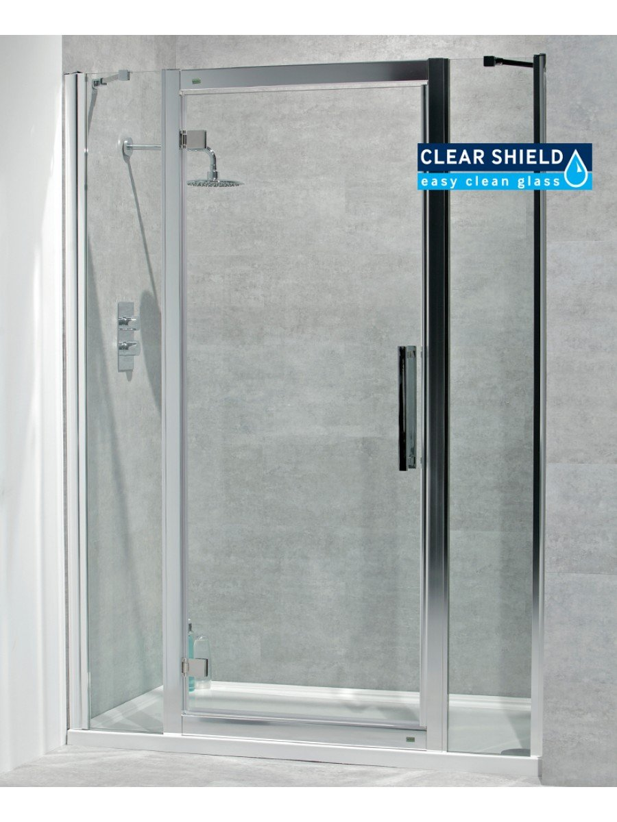 Avante 8mm 1400mm Hinged Shower Door and Double Infill Panel - Adjustment 1340-1400mm