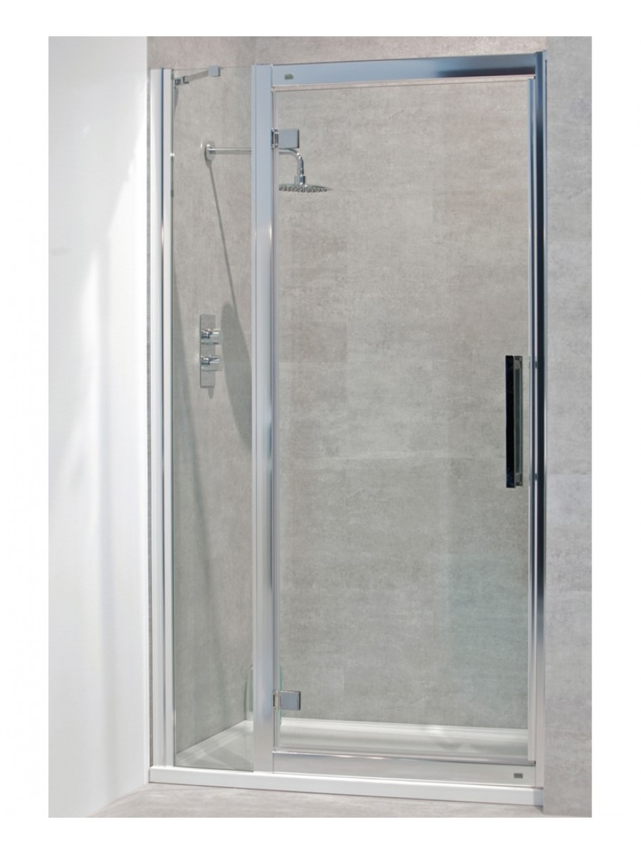 Avante 8mm 1300mm Hinged Shower Door And Single Infill Panel Adjustment 1240 1300mm