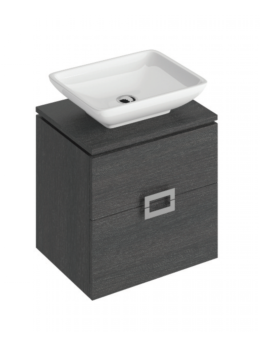 Ava Dark Wood 55 CounterTop Vanity Unit and Aimee Basin