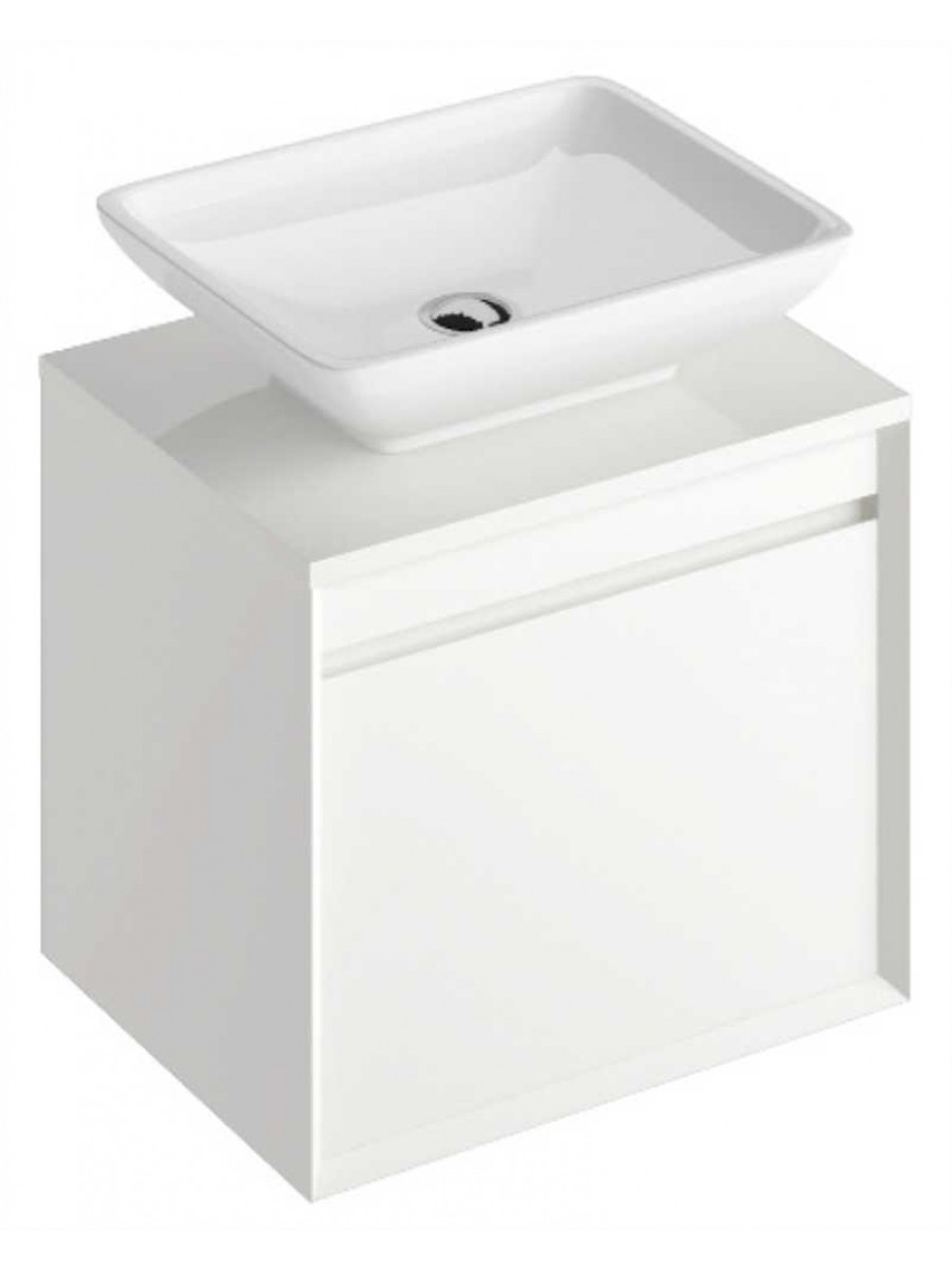 Regine 55 cm Base Unit White & Aimee Basin