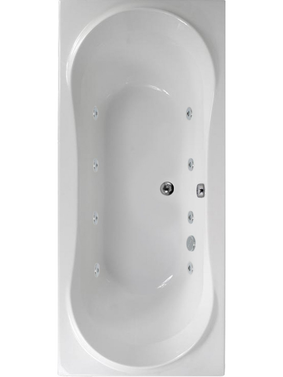 Bromley 1800x800 Double Ended 8 Jet Whirlpool Bath