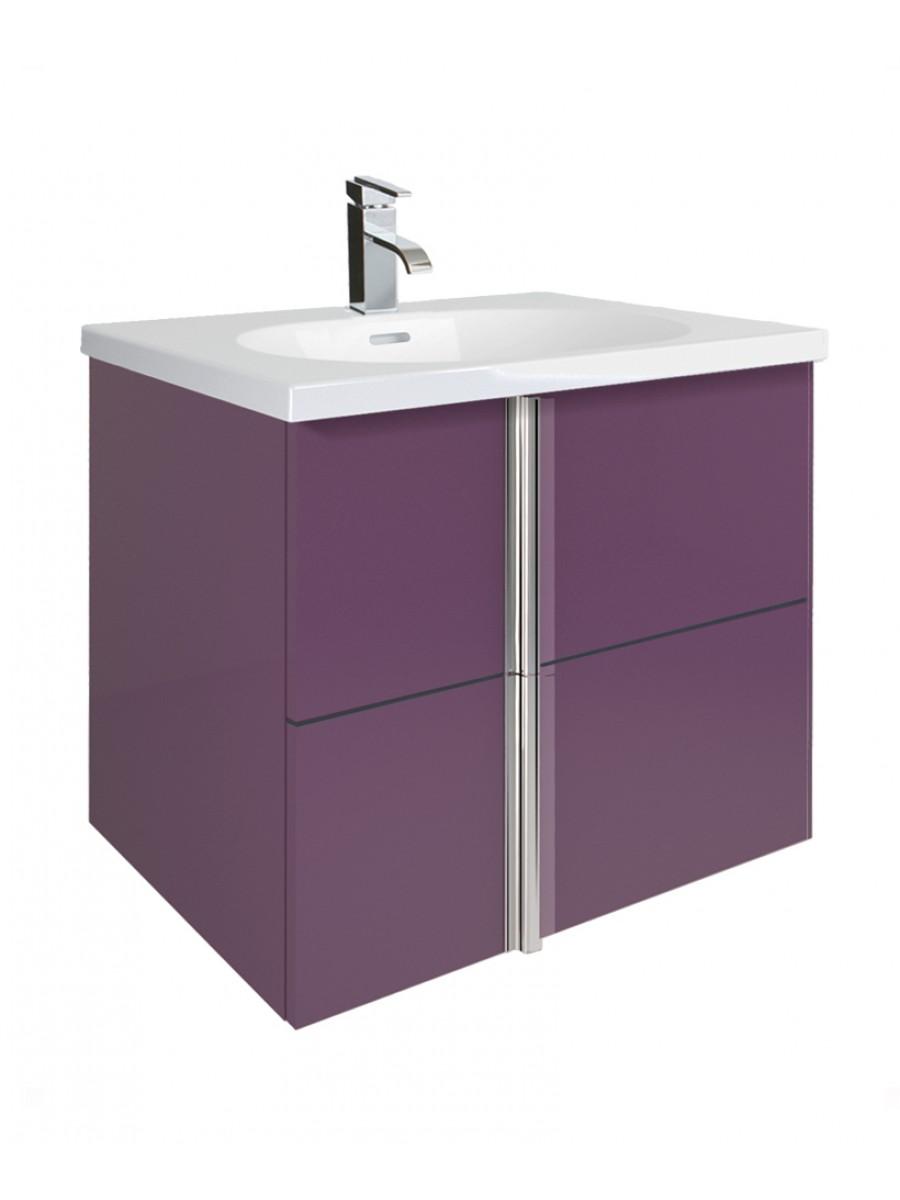 Athena Aubergine 60cm Vanity Unit 2 Drawer and Aida Basin