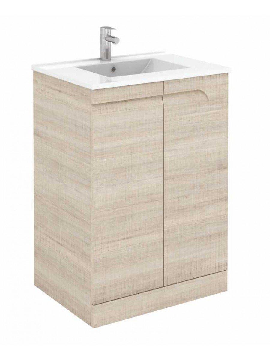 Pravia Maple 60 cm Floor Standing Vanity Unit and SLIM Basins - *60% Off