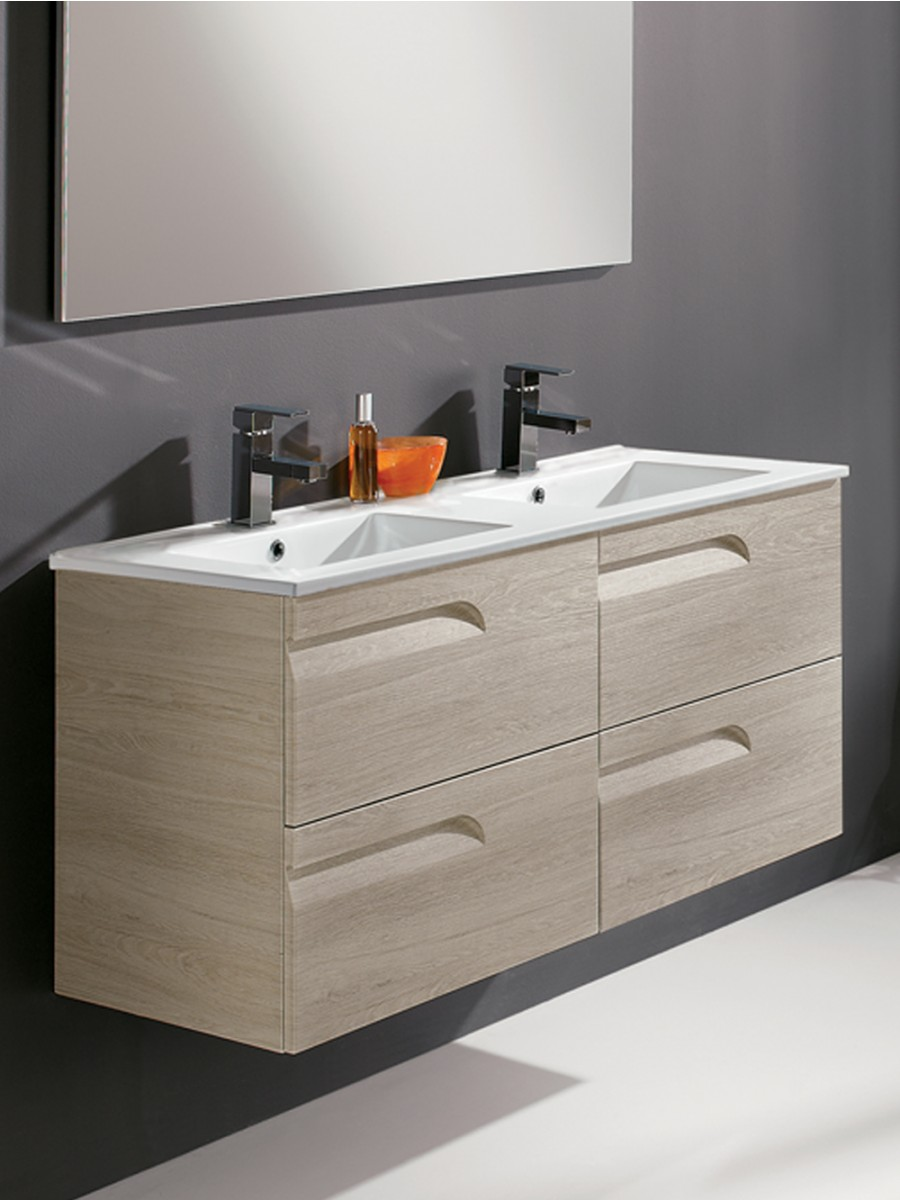 Pravia Maple 120cm Vanity Unit 4 Drawer and Basin