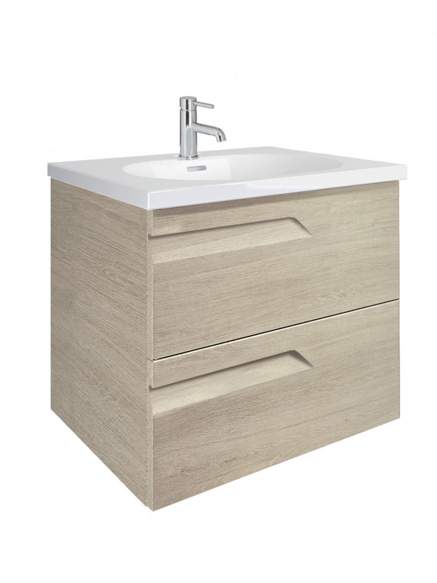 Pravia Maple 60cm Vanity Unit 2 Drawer and Aida Basin - ** 60% Off