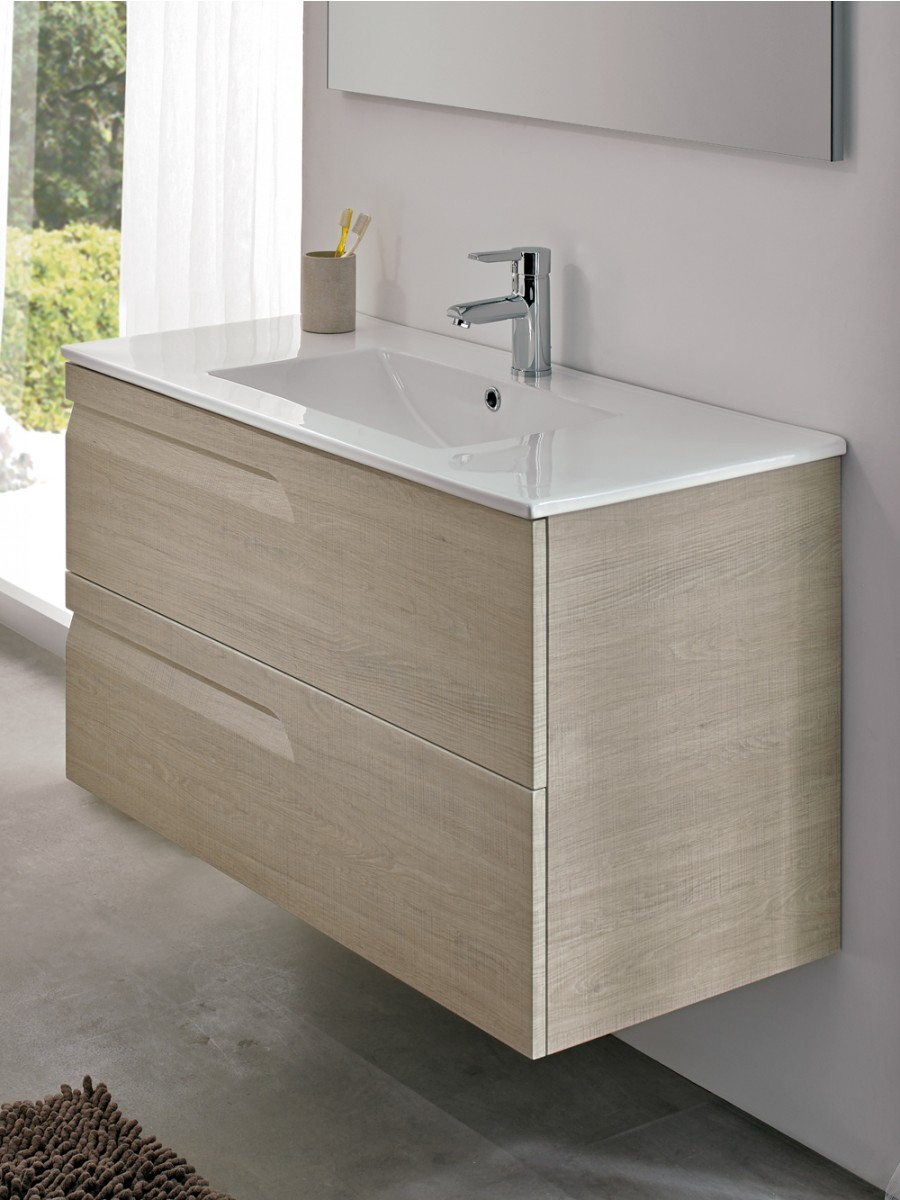 Pravia Maple 80cm Vanity Unit 2 Drawer and Basin