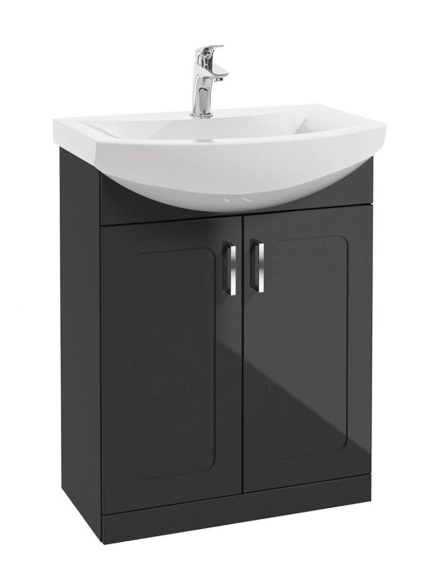 Barna 65cm Graphite Vanity Unit & Basin