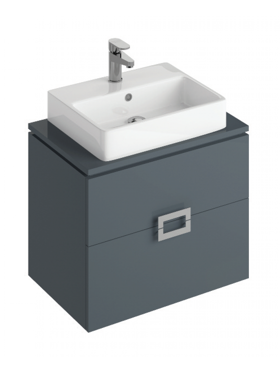 Ava 65cm Base Unit Antracite & Brook Basin