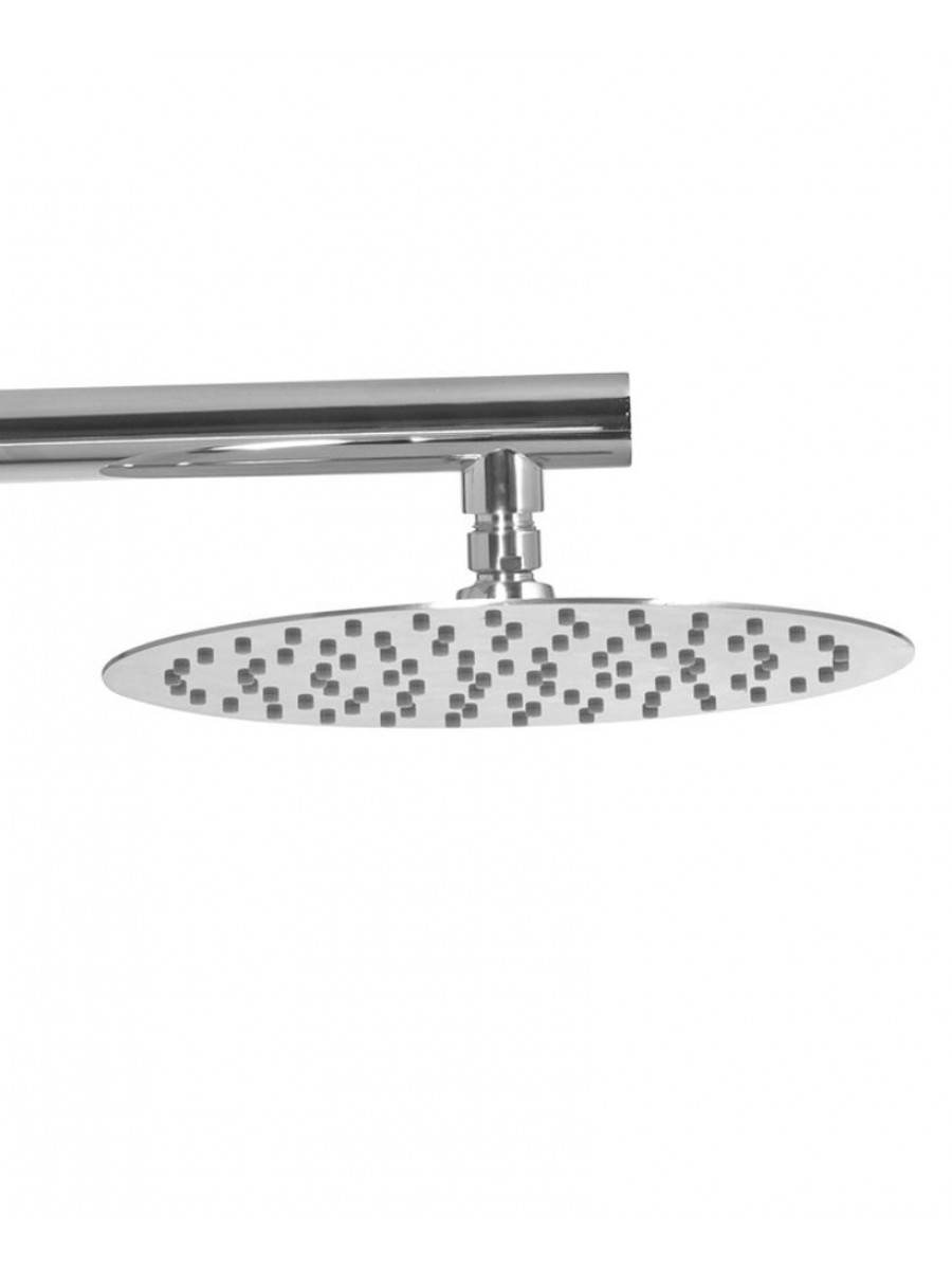 Caria Round 250 Shower Head & 440 Luxary Wall Shower Arm - Ultra Thin