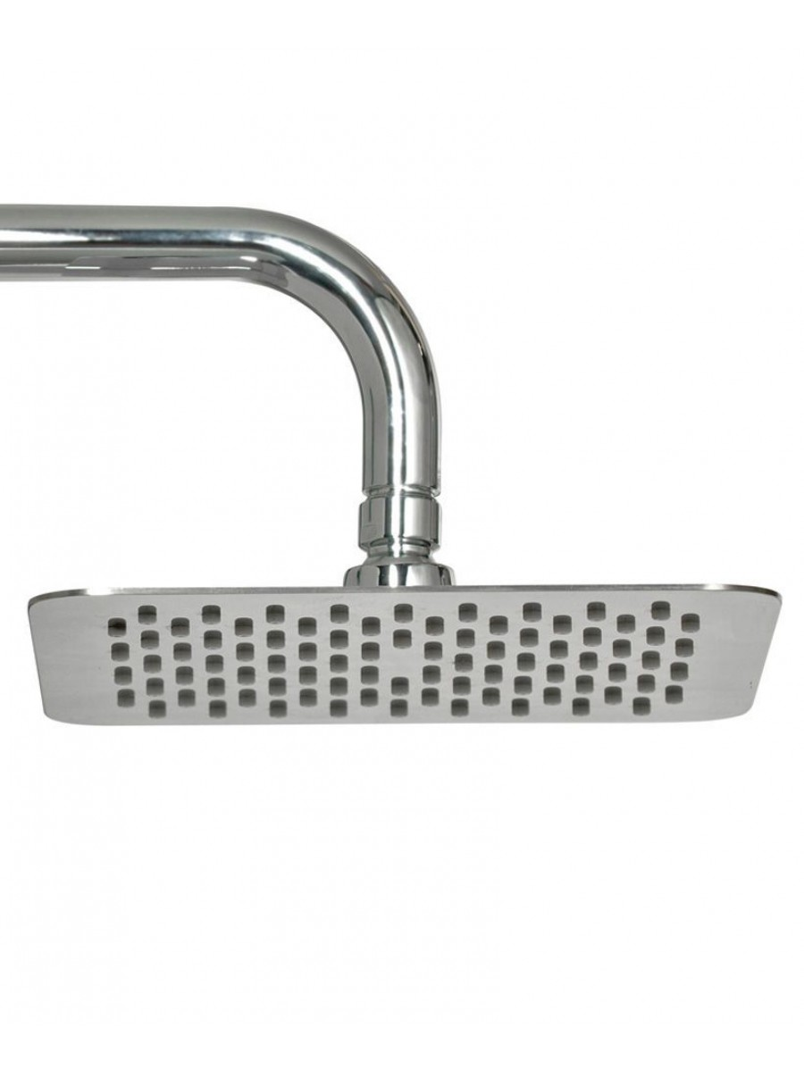 Caria Square 250 Shower Head & 300 Wall Shower Arm - Ultra Thin