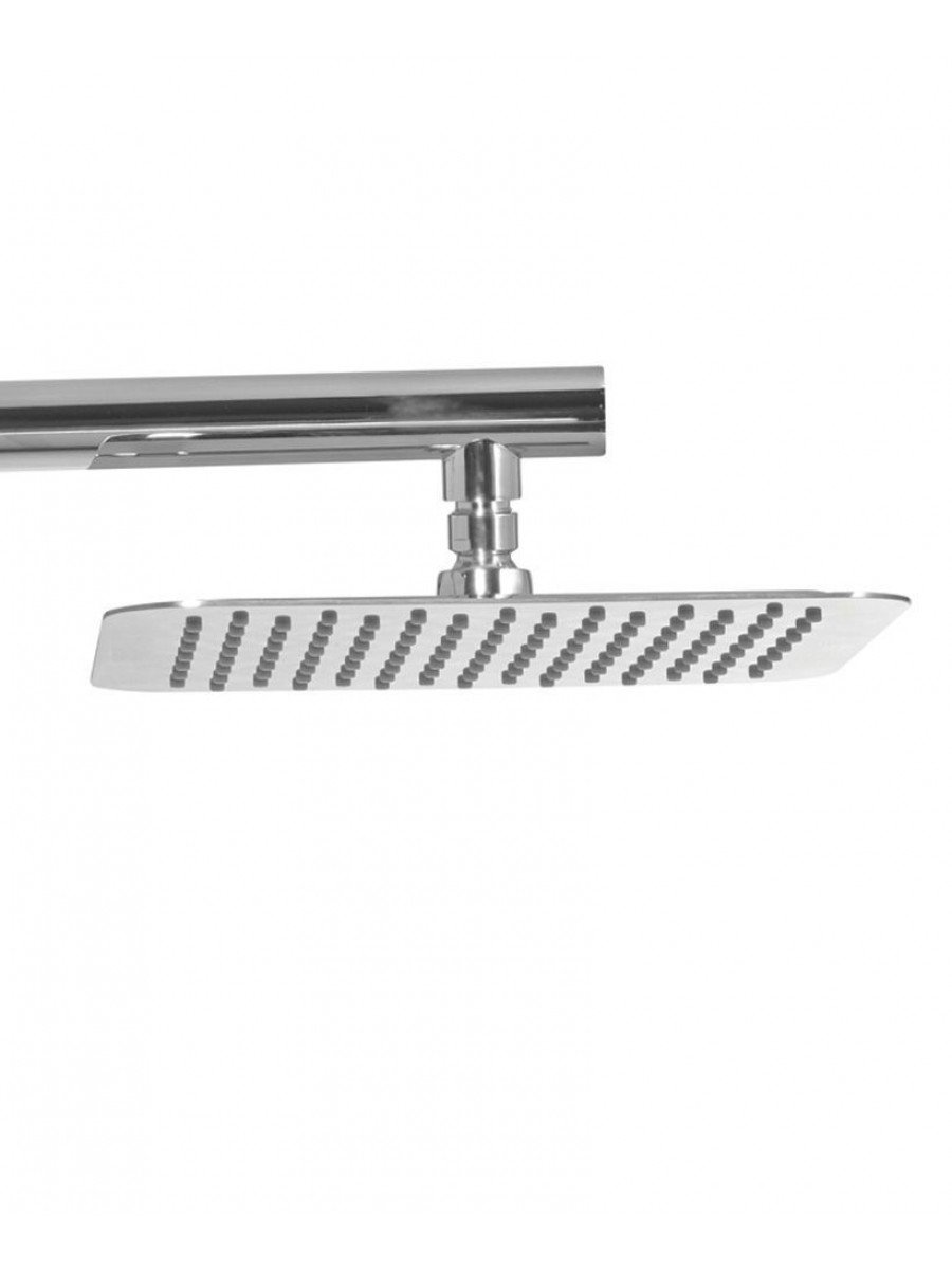 Caria Square 250 Shower Head & 440 Luxary Wall Shower Arm - Ultra Thin