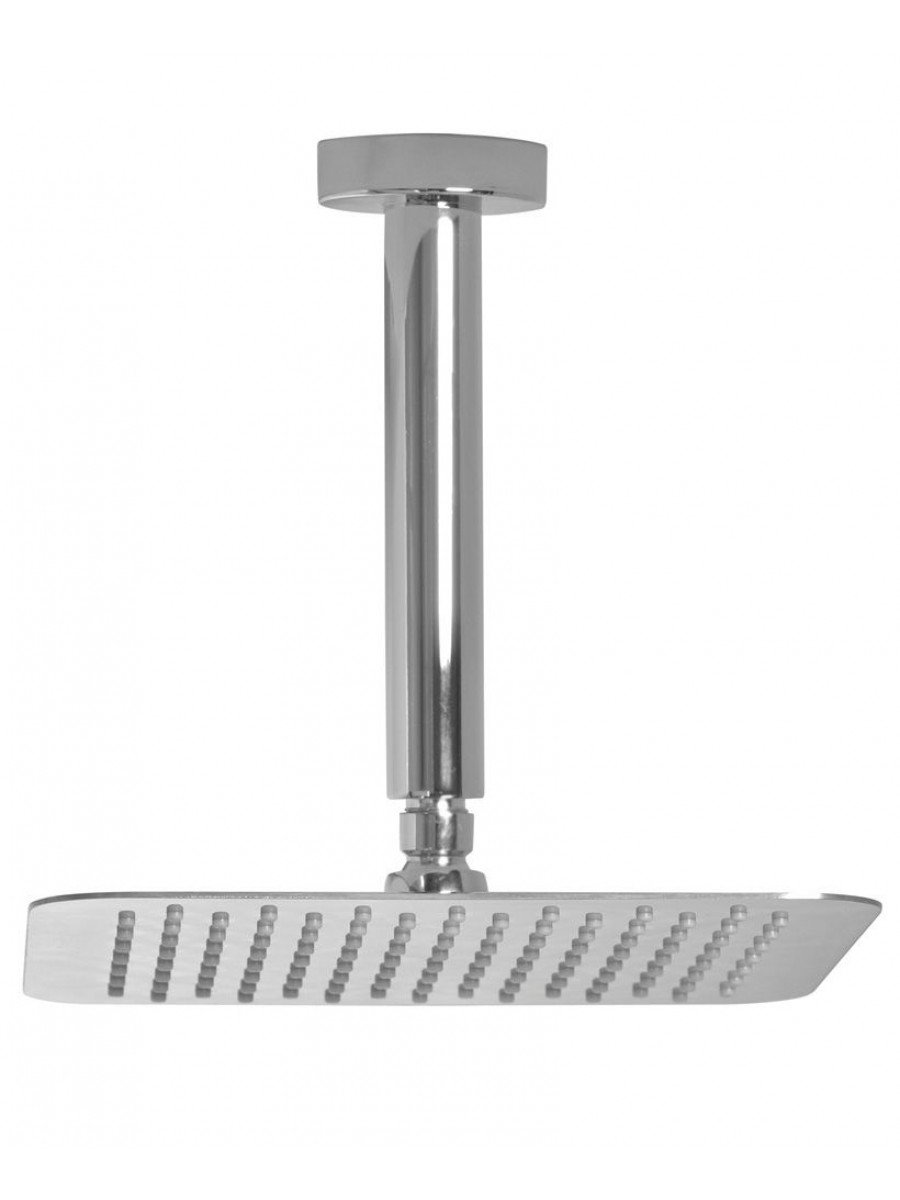 Caria Square 200 Shower Head & 200 Ceiling Shower Arm - Ultra Thin
