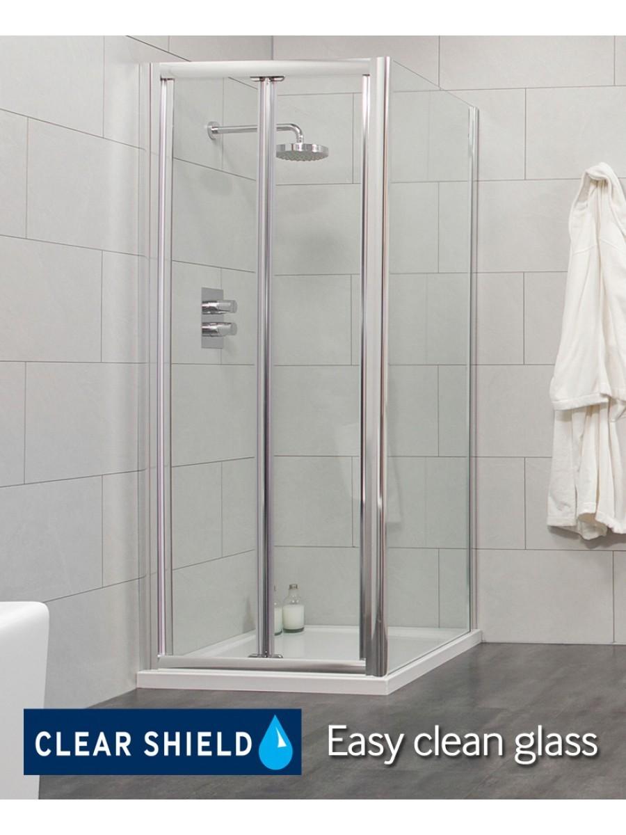 Cello 900 x 800mm Bifold Shower Door - includes 800mm side panel