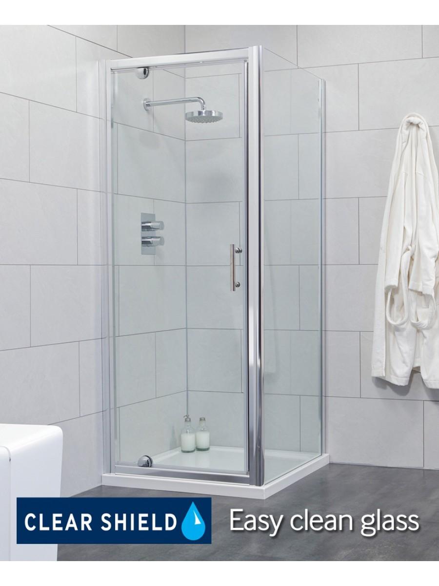 Cello 800 x 800mm Pivot Shower Door - includes 800mm side panel