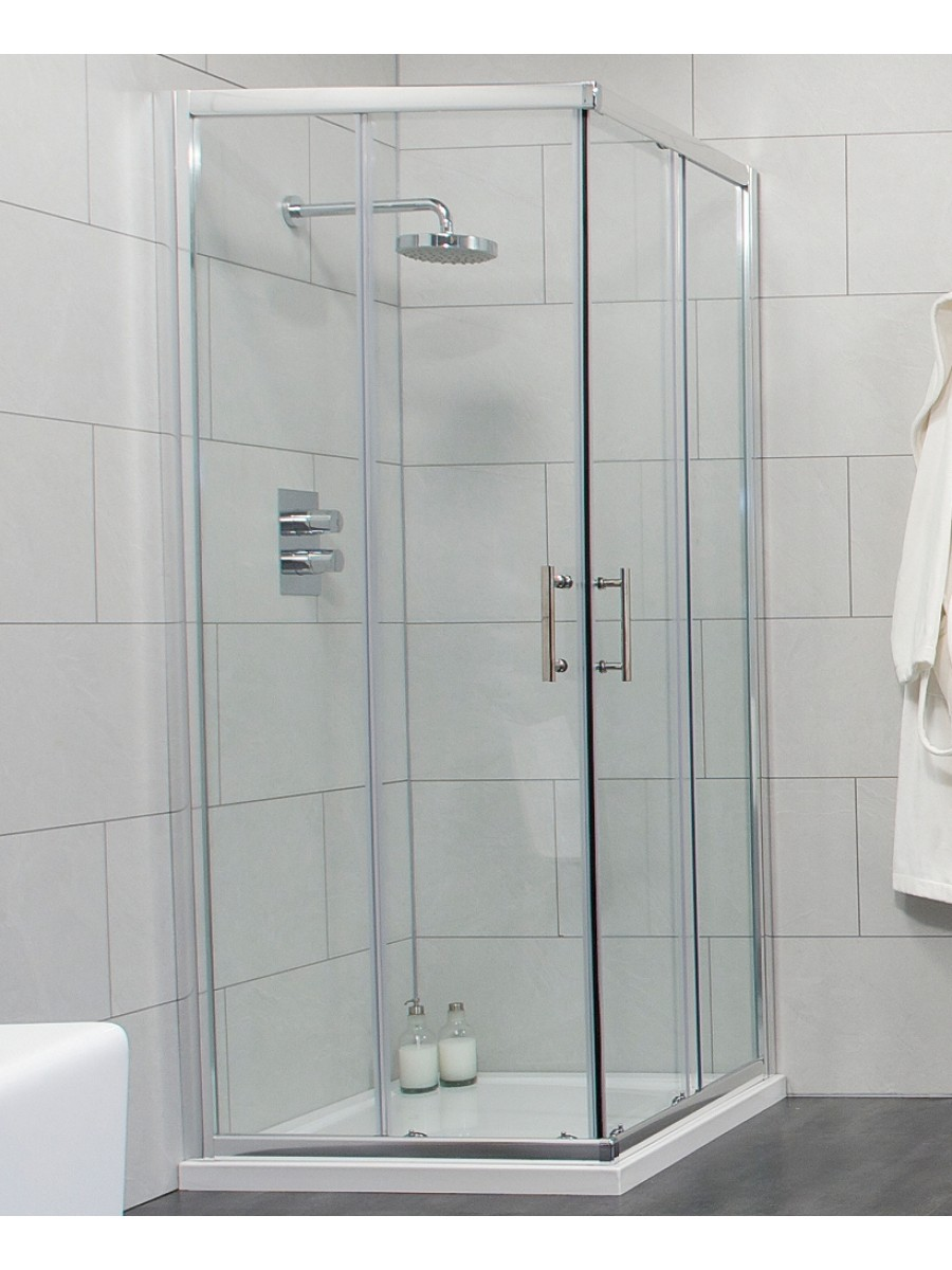 Cello 900 Corner Entry Shower Enclosure - Adjustment 865-890mm