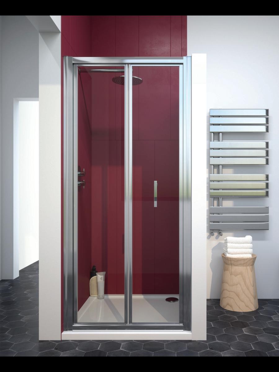 Cello Plus 760 Bifold Shower Door, Adjustment 710 - 760mm