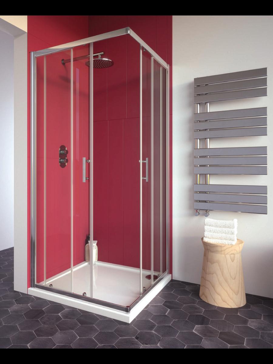 Cello Plus 900 Corner Entry Shower Door , Adjustment 865 - 890mm
