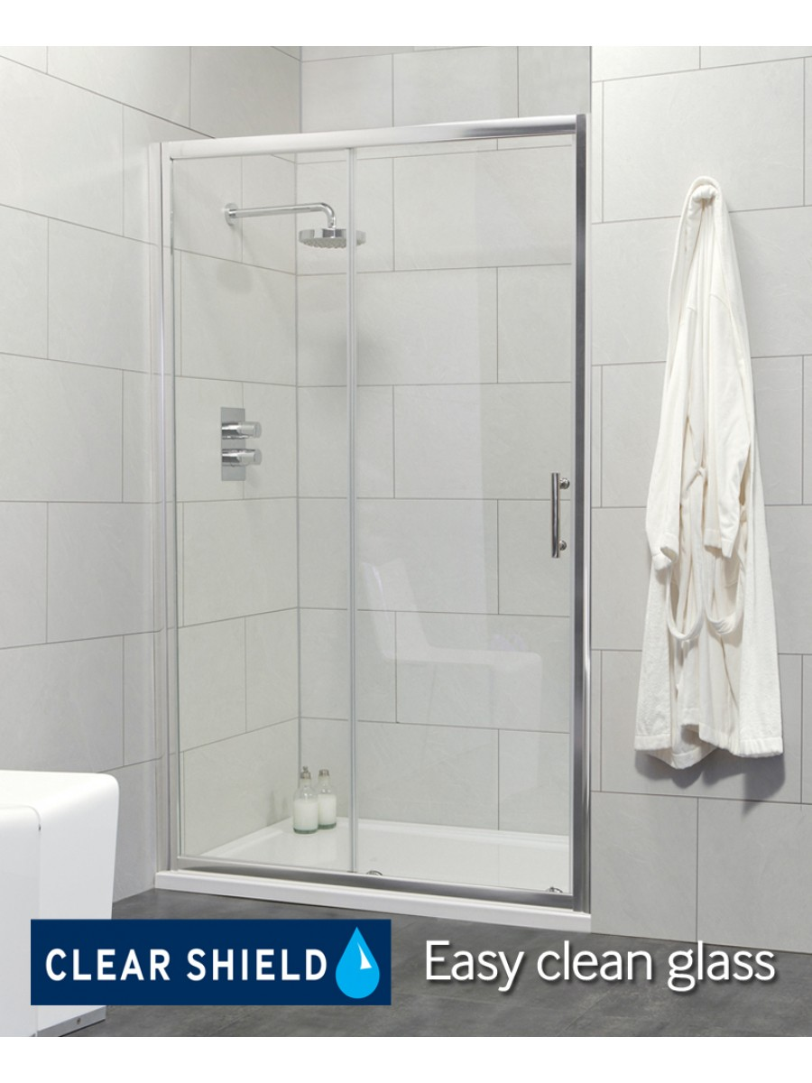 Cello Range 1200 Sliding Shower Door - Adjustment 1140-1190mm