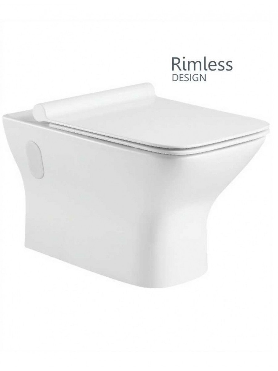 Clara Wall Hung Rimless WC with Quick Release Soft Closing SLIM Seat