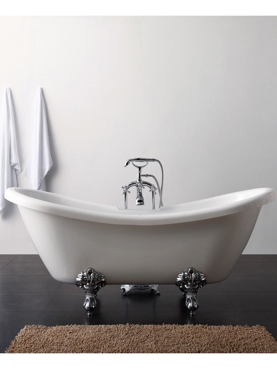Louis 1760 x 700 Traditional Double Ended Roll Top Bath