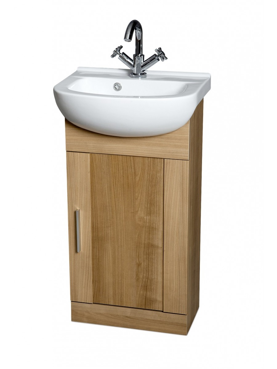 Cordoba Oak 45cm Vanity Unit & Basin