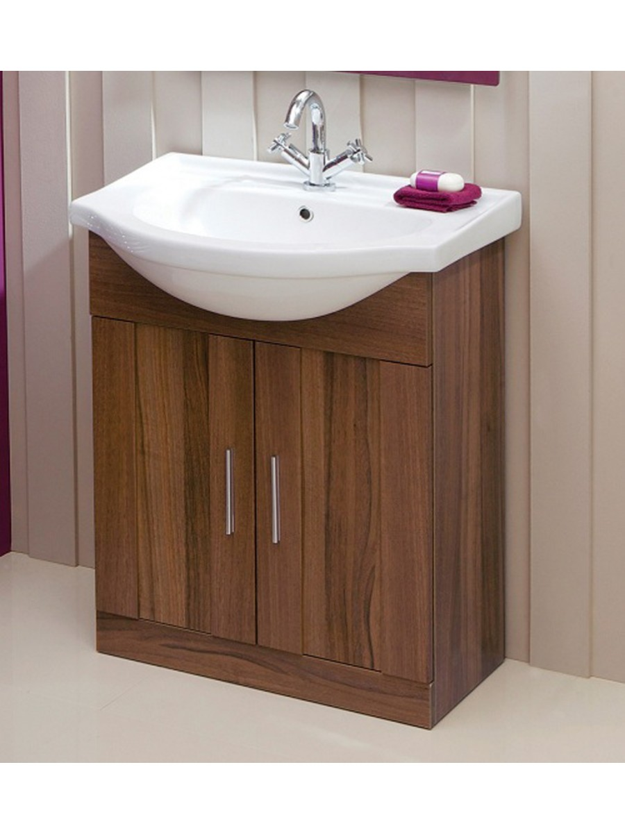 Cordoba Walnut 65cm Vanity Unit & Basin