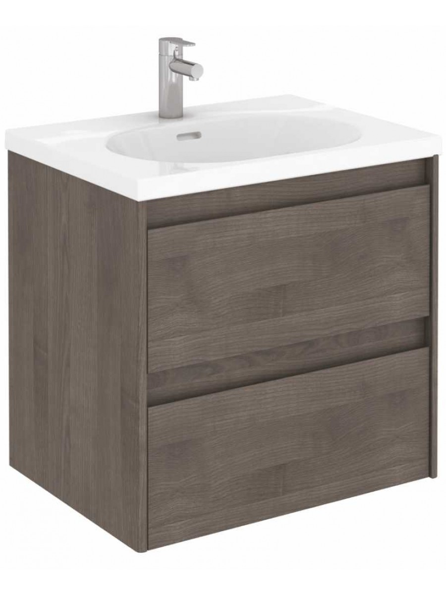Vichy Ash 60 cm Wall Hung Vanity Unit and Aida Basin