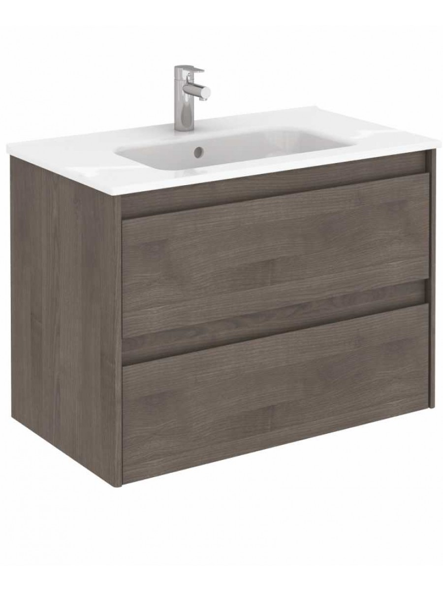 ... Furniture Ranges Vichy Ash 80 cm Wall Hung Vanity Unit and Slim Basin