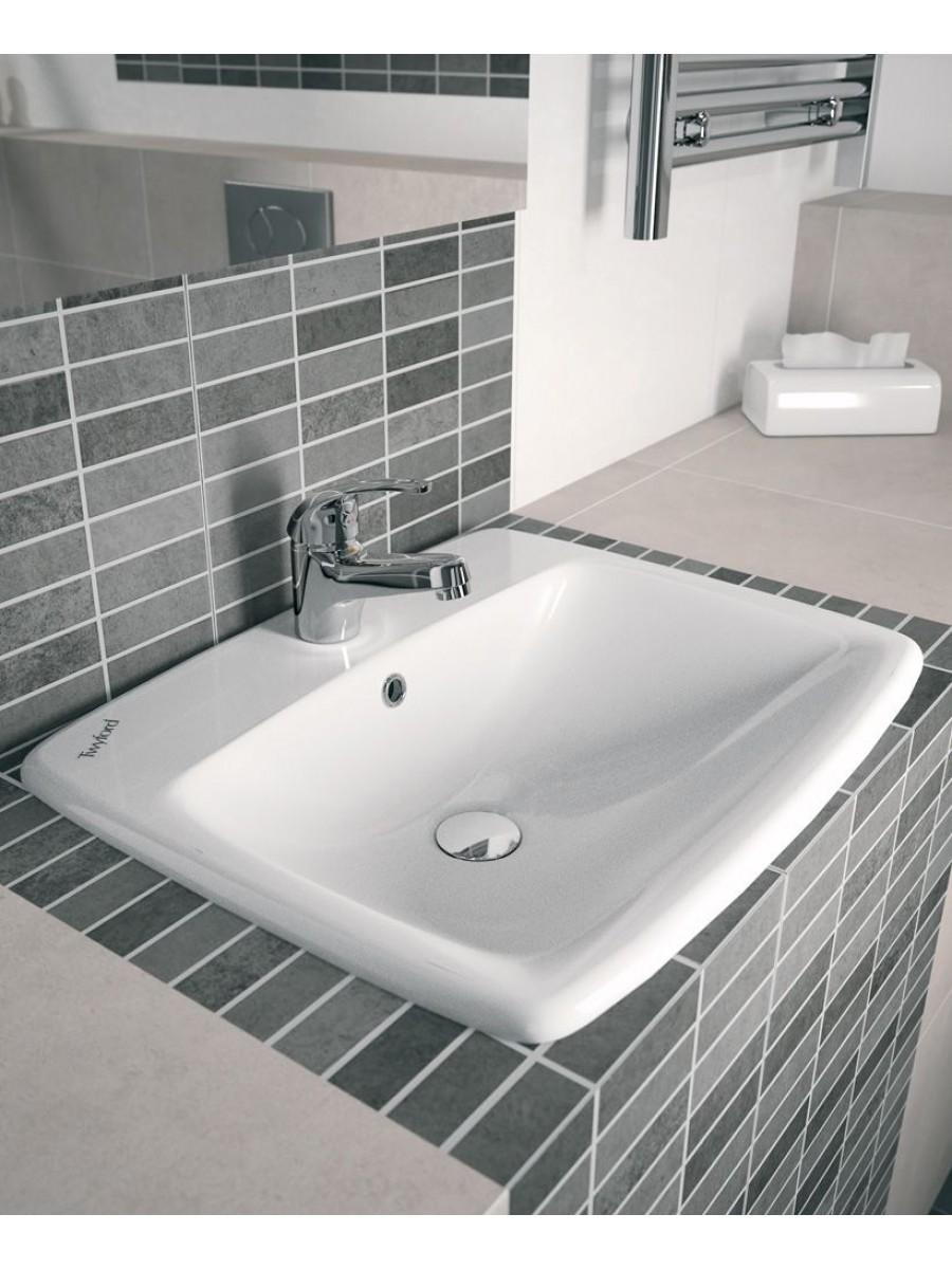 Twyford E100 Square 550 Countertop Basin