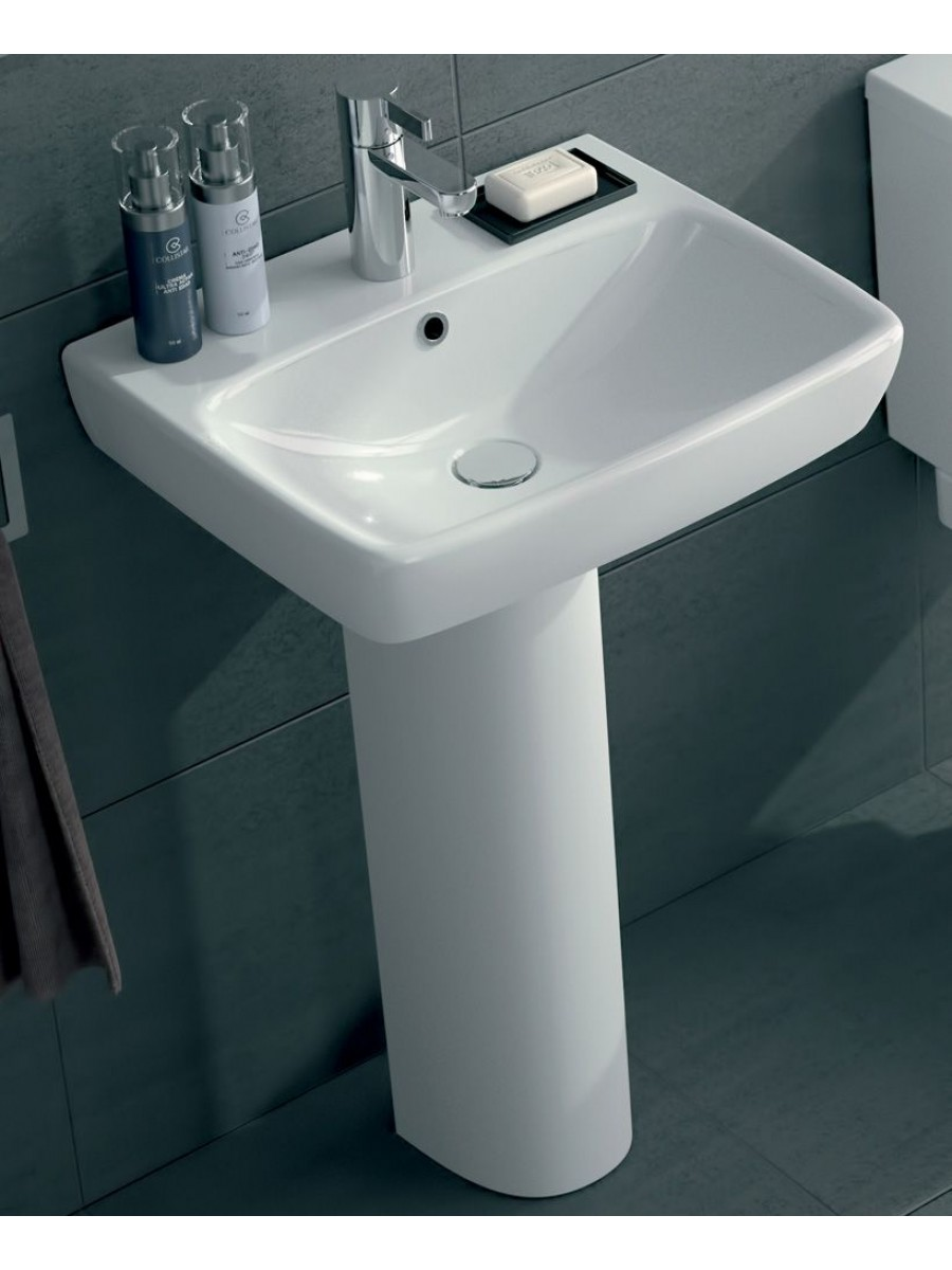 Twyford E100 Square 500 Basin & Pedestal