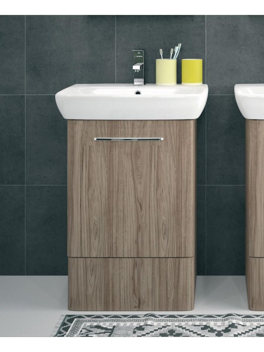 Twyford E100 550 Grey Ash Vanity Unit - Floor Standing