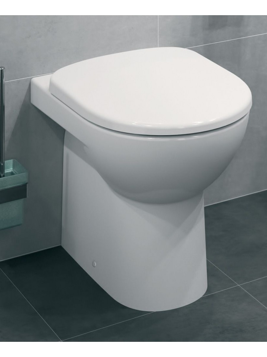 Twyford E100 Round Back To Wall Toilet & Standard Seat** an extra 10% off with code EASTER10