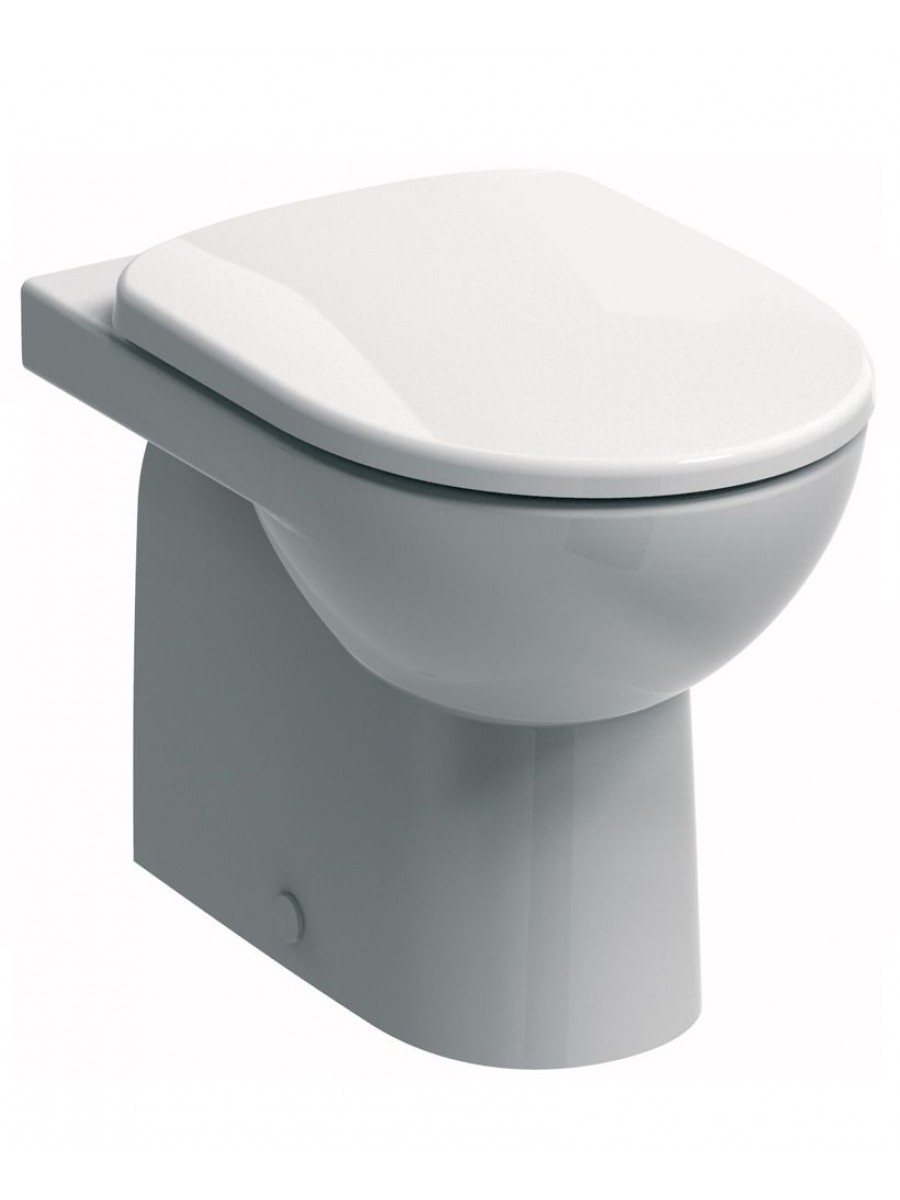 Twyford E100 Round Back To Wall Toilet & Soft Close Seat