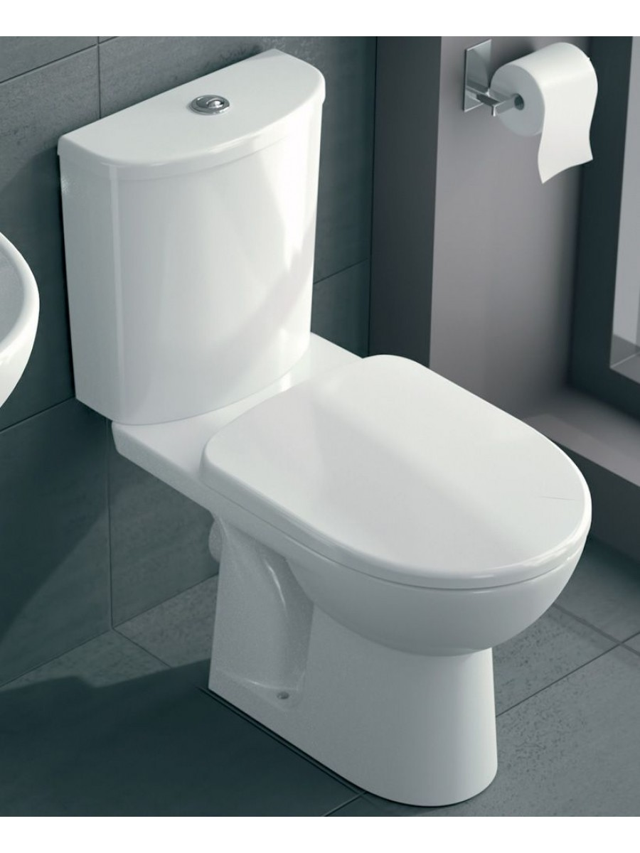 Twyford E100 Round Standard Close Coupled Toilet & Soft Close Seat ** an extra 10% off with code EASTER10