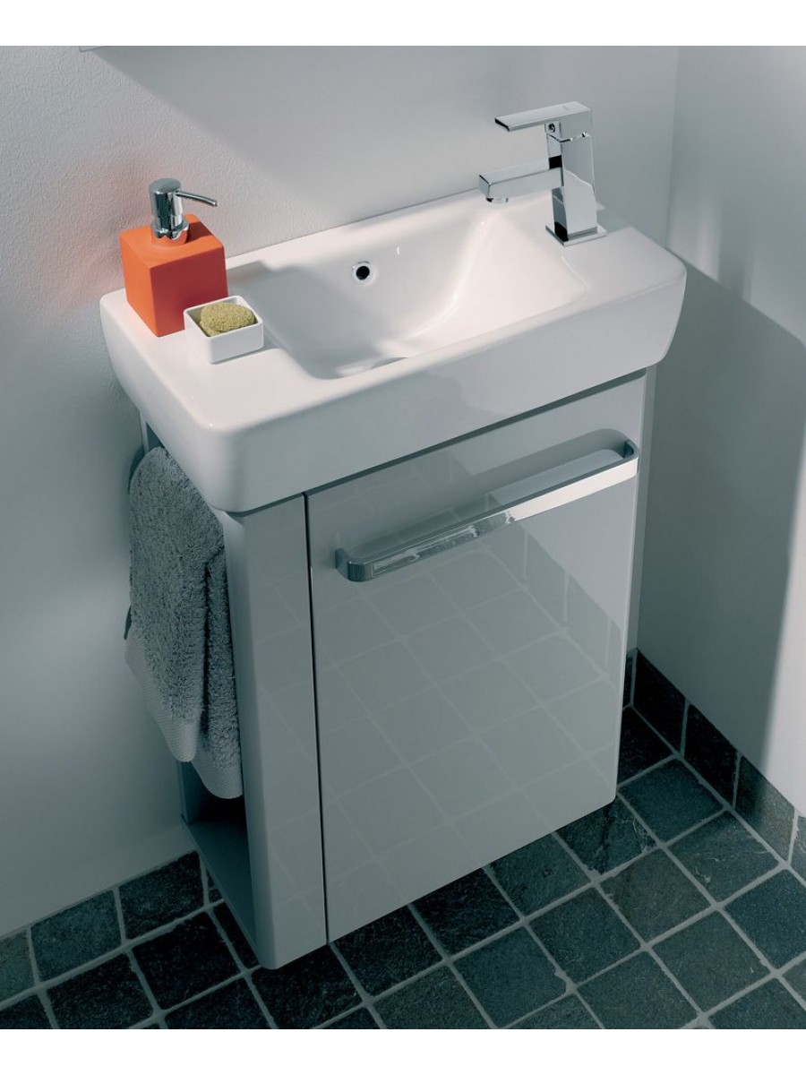 Twyford E200 500 Grey Vanity Unit Wall Hung RH Tap with Left Towel Rail** an extra 10% off with code EASTER10
