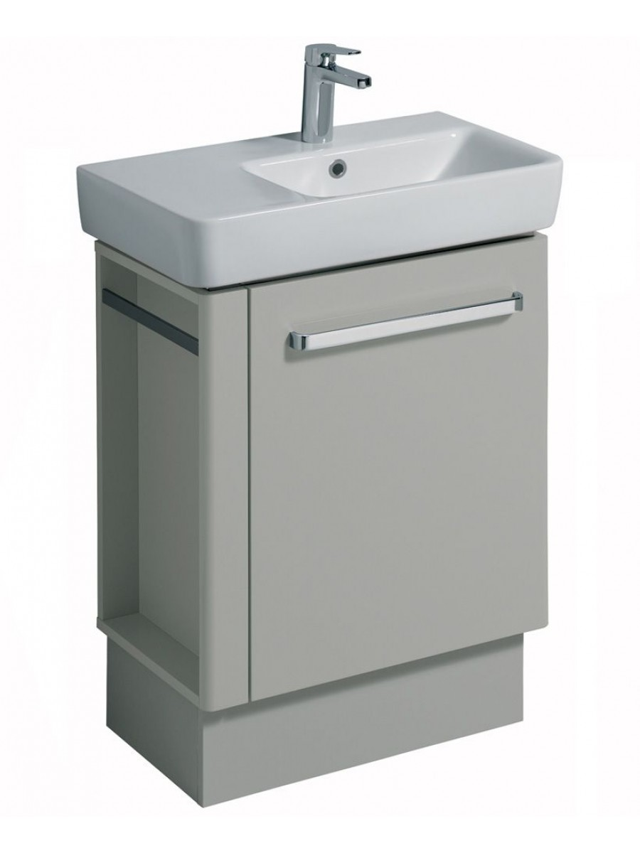 Twyford E200 650 Grey Vanity Unit Floor Standing with LH Towel Rail