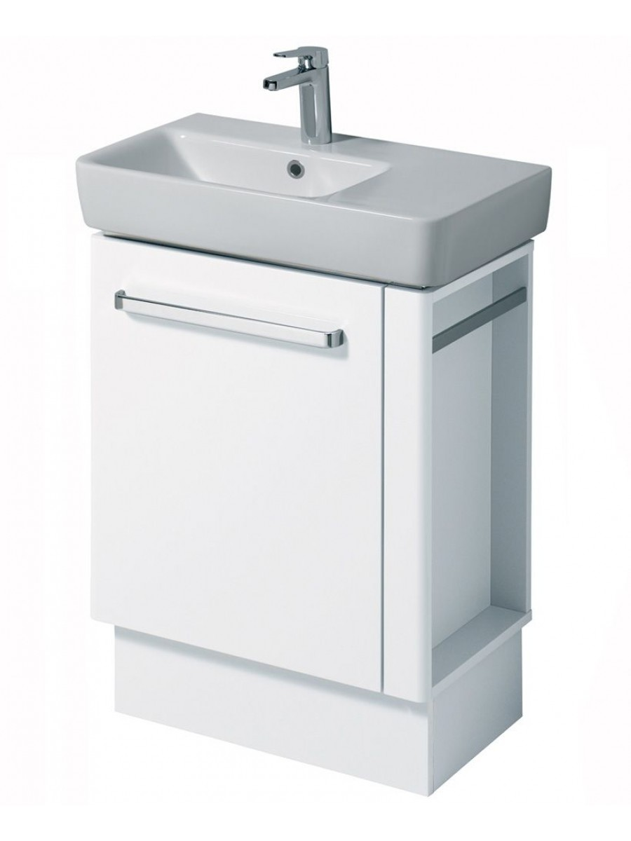 Twyford E200 650 White Vanity Unit Floor Standing with RH Towel Rail
