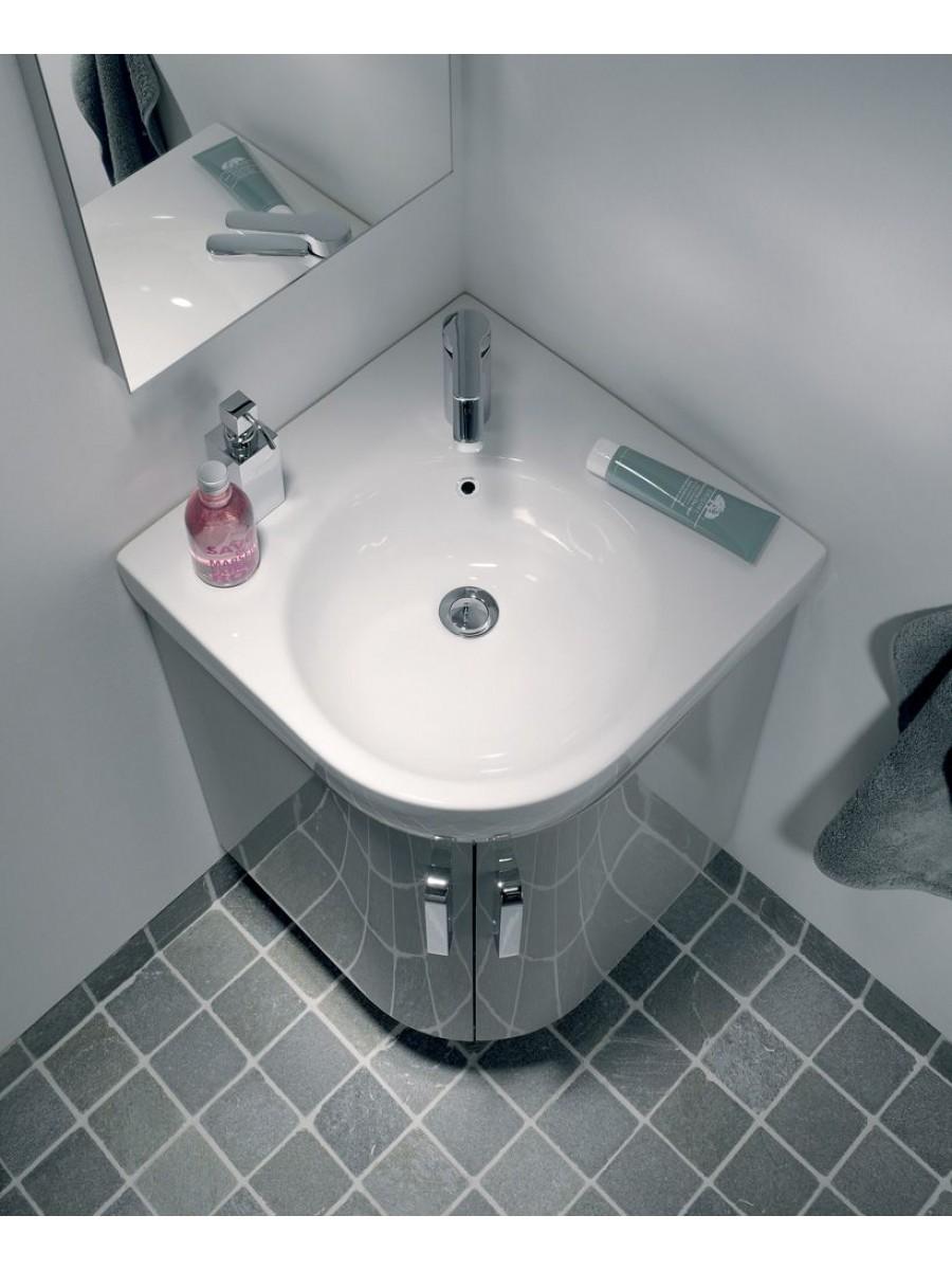 Twyford E200 500 Grey Corner Vanity Unit Floor Standing - * 60% Off