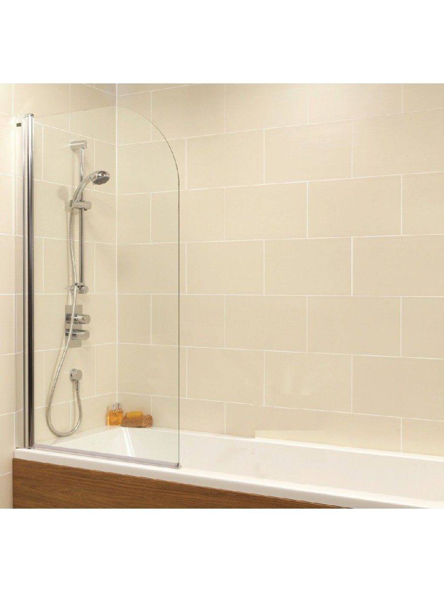 Duo Straight Singled Ended 1800x800mm Bath and Shower Screen with 6mm glass - Radius