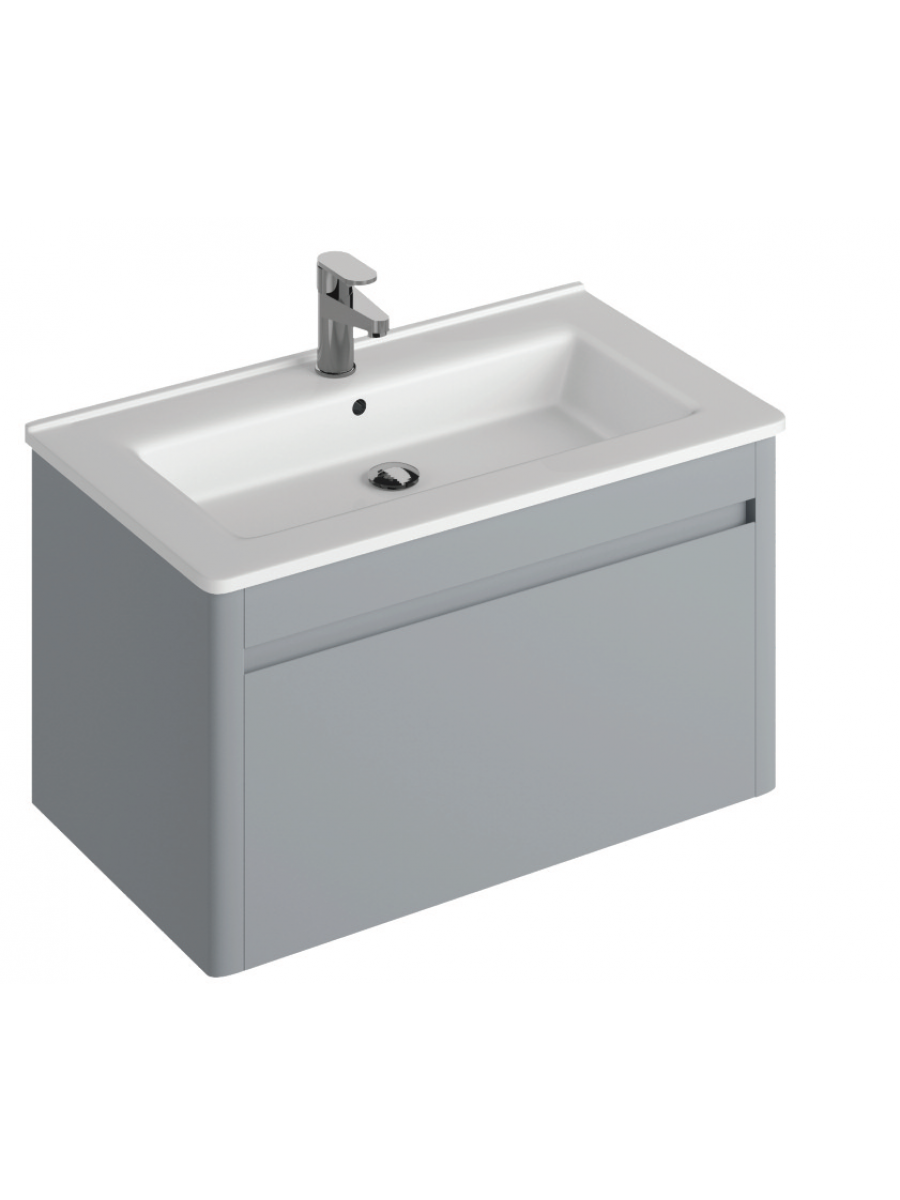 Elora 80cm Wall Hung Vanity Unit Pearl Grey