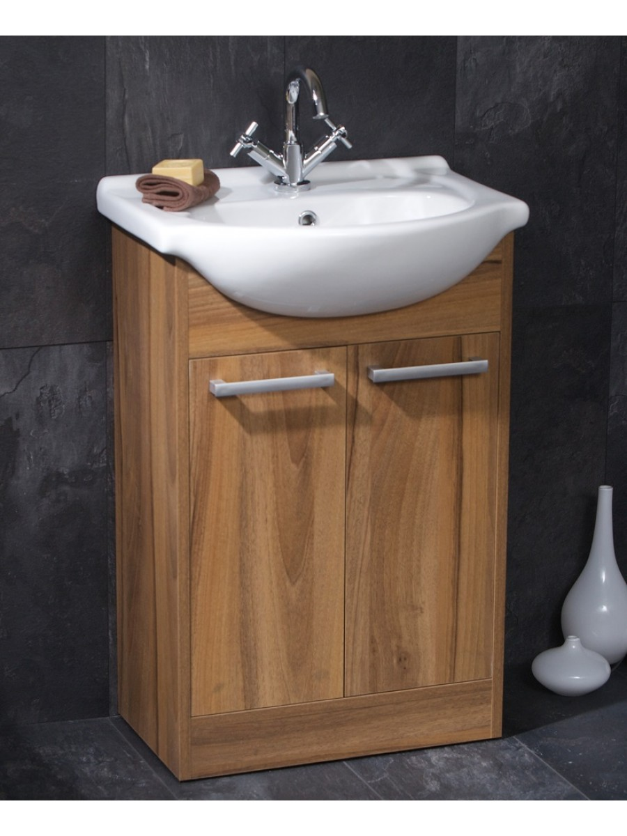 Crete Walnut 55cm Unit & Basin