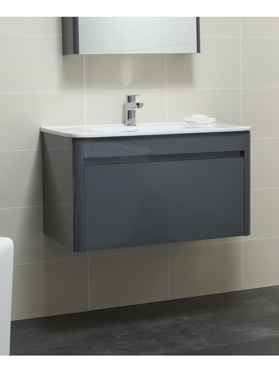 Elora 80cm Anthracite Vanity Unit and Basin