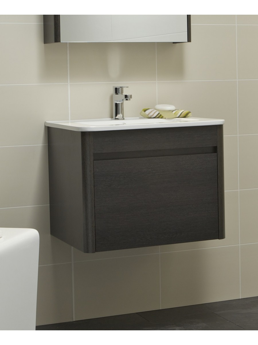 Elora 60cm Dark Wood Vanity Unit and Basin