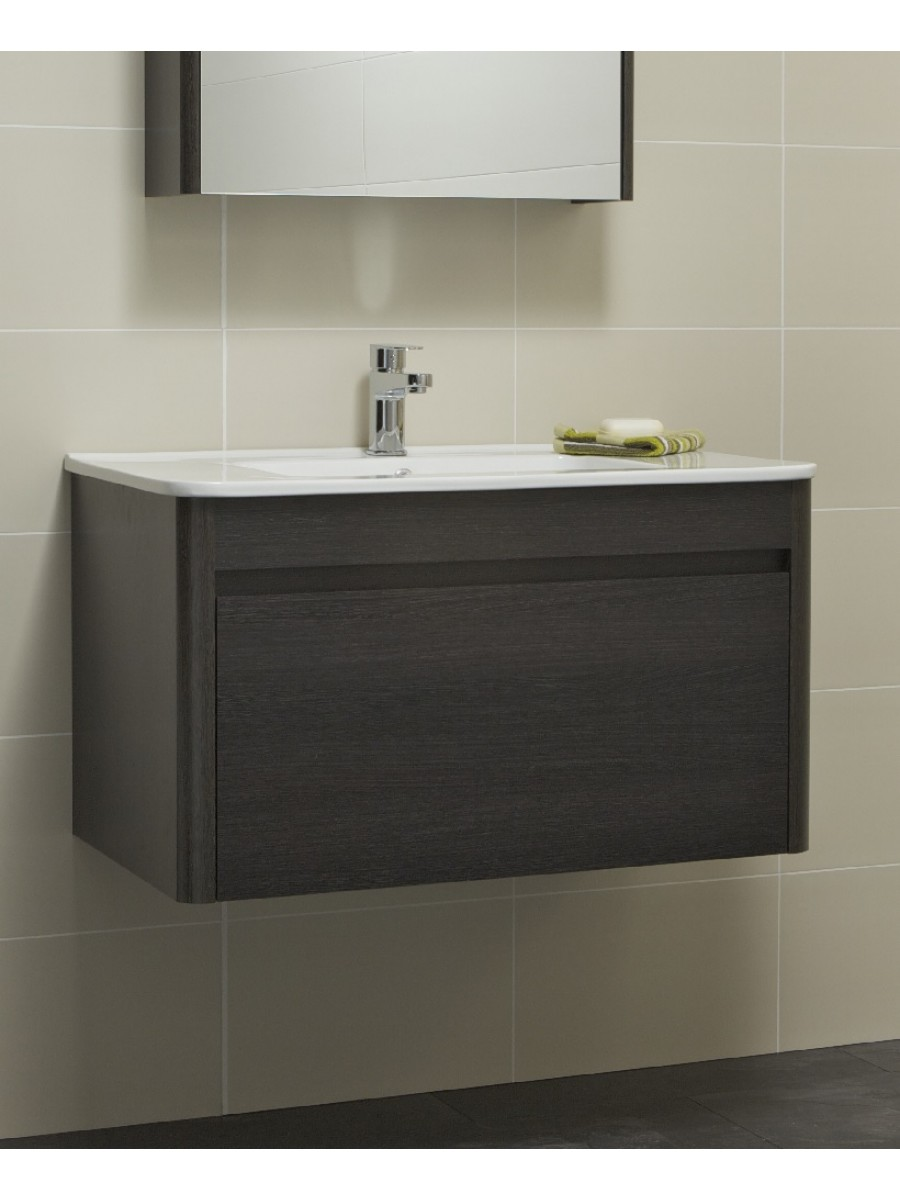 Elora 80cm Dark Wood Vanity Unit and Basin