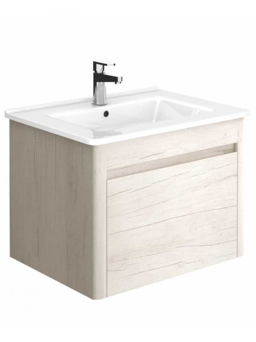 Elora 60cm Light Wood Vanity Unit and Basin ** Further Reductions**