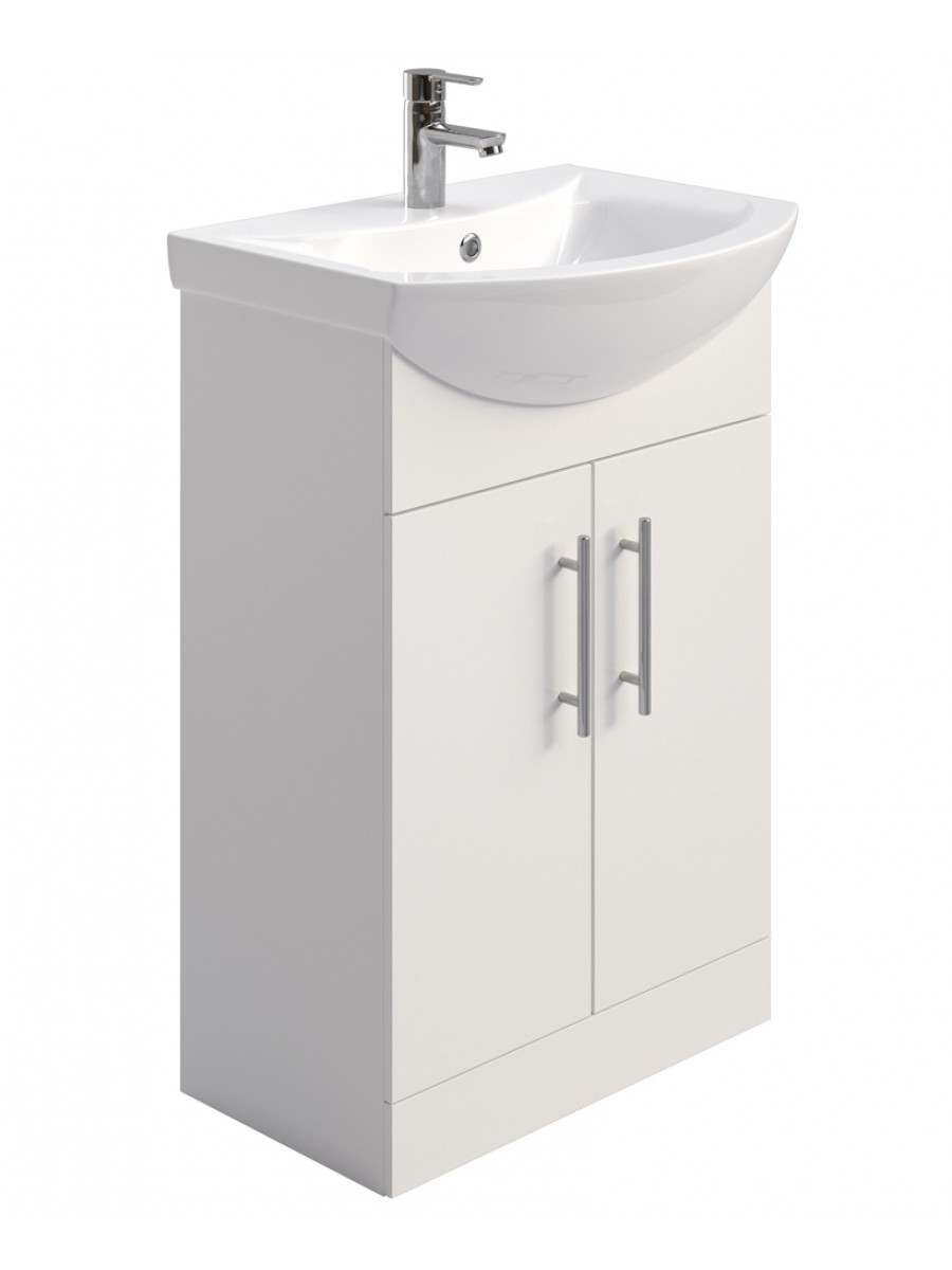 Blanco 55cm Vanity Unit & Basin - ** FURTHER REDUCTION